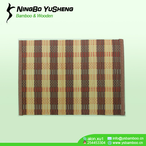 Natural carbonize Cheap Bamboo Placemat