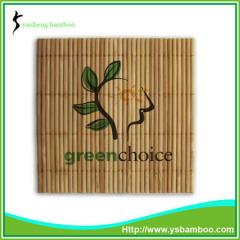 Printing LOGO bamboo cup coaster
