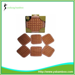 Bamboo cup mat set in high quality