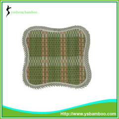 Bamboo heat insulation mat handwork