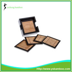 Carbonize bamboo cup coaster set packing