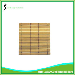 cheap price square bamboo cup mat