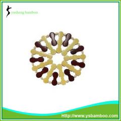 round bamboo bead coaster handmade