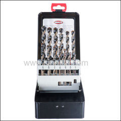 "13PCS of Multi-Purpose Drill Bits 1/8"" - 1/2"" by 1/64"" increments in metal box INCH SIZES"