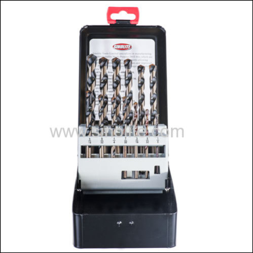13pcs of Multi-Purpose Drill Bits 1/8  - 1/2  by 1/64  increments in metal box