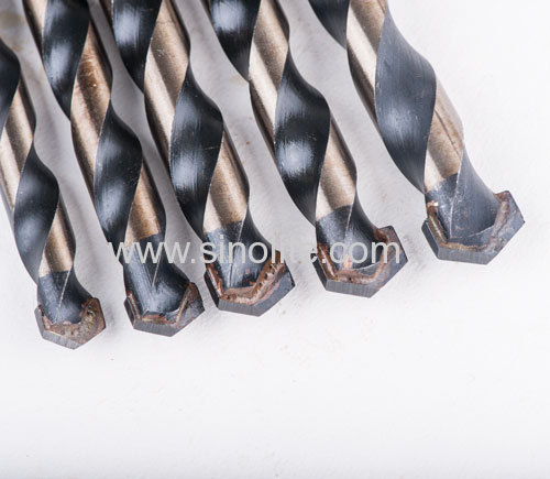 Multi-purpose drill bits for drilling steel.