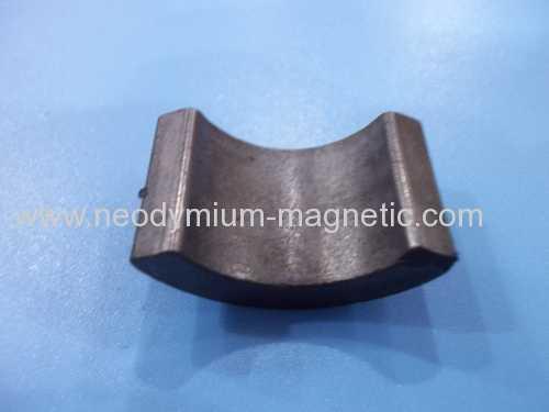 Y35 grade arc ferrite ceramic motor magnet