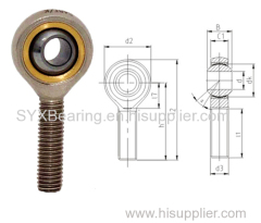 Maintenance free rod end bearing- body made of carbon steel-zinc plated-Bushing made of bronze