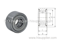 Cam follower consisting of outer ring - a group of rollers and a stud used as raceway of the rollers.