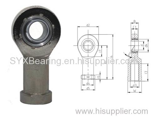 Maintenance free rod end bearing consisting rod end body and self lubricating spherical plain bearing GE..C.