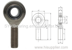 Maintenance free rod end bearing made of rod end body and self lubricating spherical plain bearing GE..C