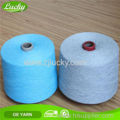 recycled cotton polyester blended weaving yarn