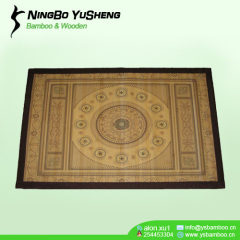 Bamboo prayer rug printing design