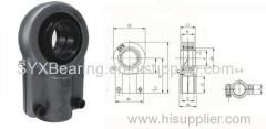 Rod end with locking slot made up of a rod end housing and a radial spherical plain bearing GEEW..ES
