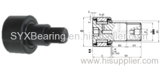 Stud type cam followers in inch dimensions are with or without seals-with eccentric bushing