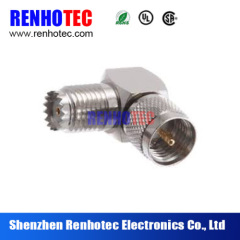 Right Angle Mini UHF Male To TNC Female rf coaxial connector