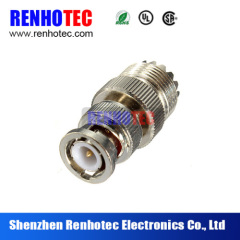 Factory price brass material UHF female straight to TNC male cable connector