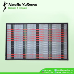 New woven design bamboo outdoor mat