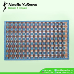 2016 new design weaving bamboo door mat
