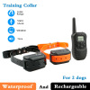 Waterproof and Rechargeable Led Dog Collar For 2 Dogs 300m 100 Levels LCD Control