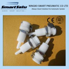 "1/8"" POM NBR Liquid Plastic Quick Connect Coupler Body"