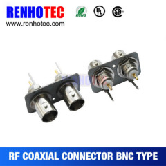 cheap price rohs UL certificated pcb mount use straight female dual bnc connector