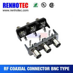 wholesale high quality right angle bnc three female connectors bnc connector for cctv bnc compression connector