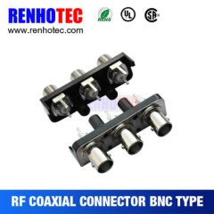 Good quality UL CE certificated bnc straight coaxial connector micro three bnc female connector