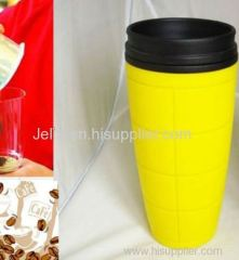 450ml 15OZ promotion coffee cup double wall plastic