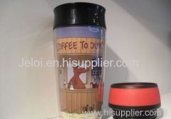 450ml/16OZ PP plastic inner AS plastic outer outdoor thermal mug sport bottle