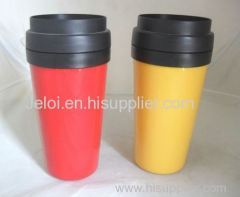 450ml promotion double plastic coffee mug cup