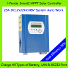 LCD MPPT 25A 48V Solar battery charger controller charge Vented Gel NiCd Sealed Lead battery Etc MPPT PV Regulat