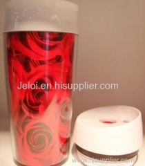 Promotion Gifts 450ml double plastic coffee mug