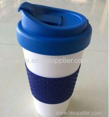Promotion gift 450ml/16oz LFGB PP plastic coffee mug