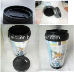 450ml promotion double plastic thermos mug cup