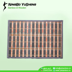 Moden weaving design bamboo area rug