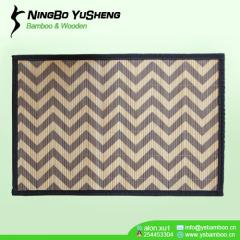 handmade Printing pattern area bamboo rug