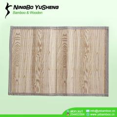 hanmade Printing graining pattern bamboo rug