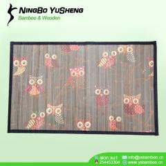 High quality printing design handmade bamboo rug