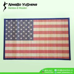 Fashion printing design handmade bamboo rug