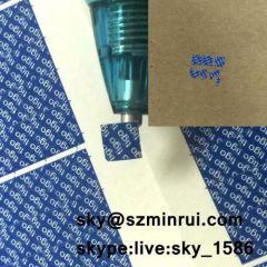 one time use warranty screw stickers/warranty void if damaged labels/one time use warranty stickers