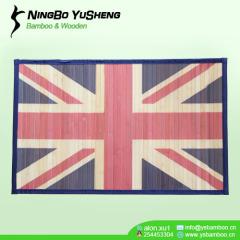 Fashion printing pattern handmade bamboo rugs