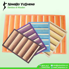 handmade gradient color bamboo rugs