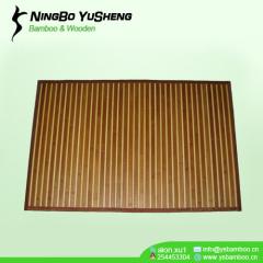 Zebra design bamboo outdoor mat