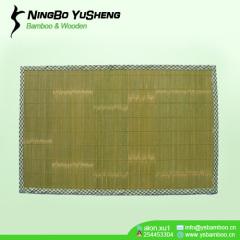 handmade Natural green bamboo door mat