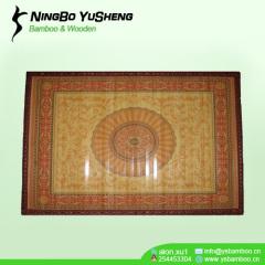 painted printing design prayer handmade bamboo rug