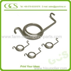 double torsion spring for industry small steel spring zinc-plated torsion spring supplier coil torsion spring manufactur
