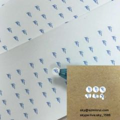Small Round Custom Screw Warranty Seal Sticker with Single Color Printing