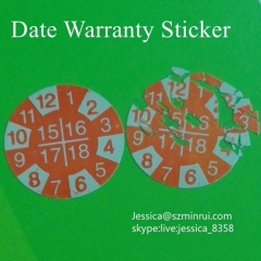 Custom Destructible Security Eggshell Paper Sticker Anti-fake Self Adhesive Fragile Warranty Sticker Label