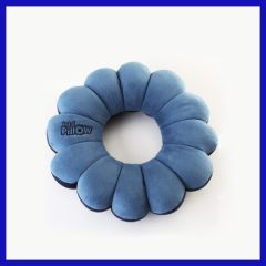 Microbeads total twist flower shaped pillow